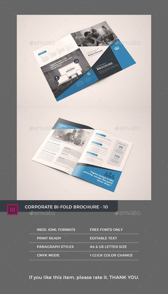 bifold brochure template indesign indd - Bi Fold Brochure Template Indesign Free