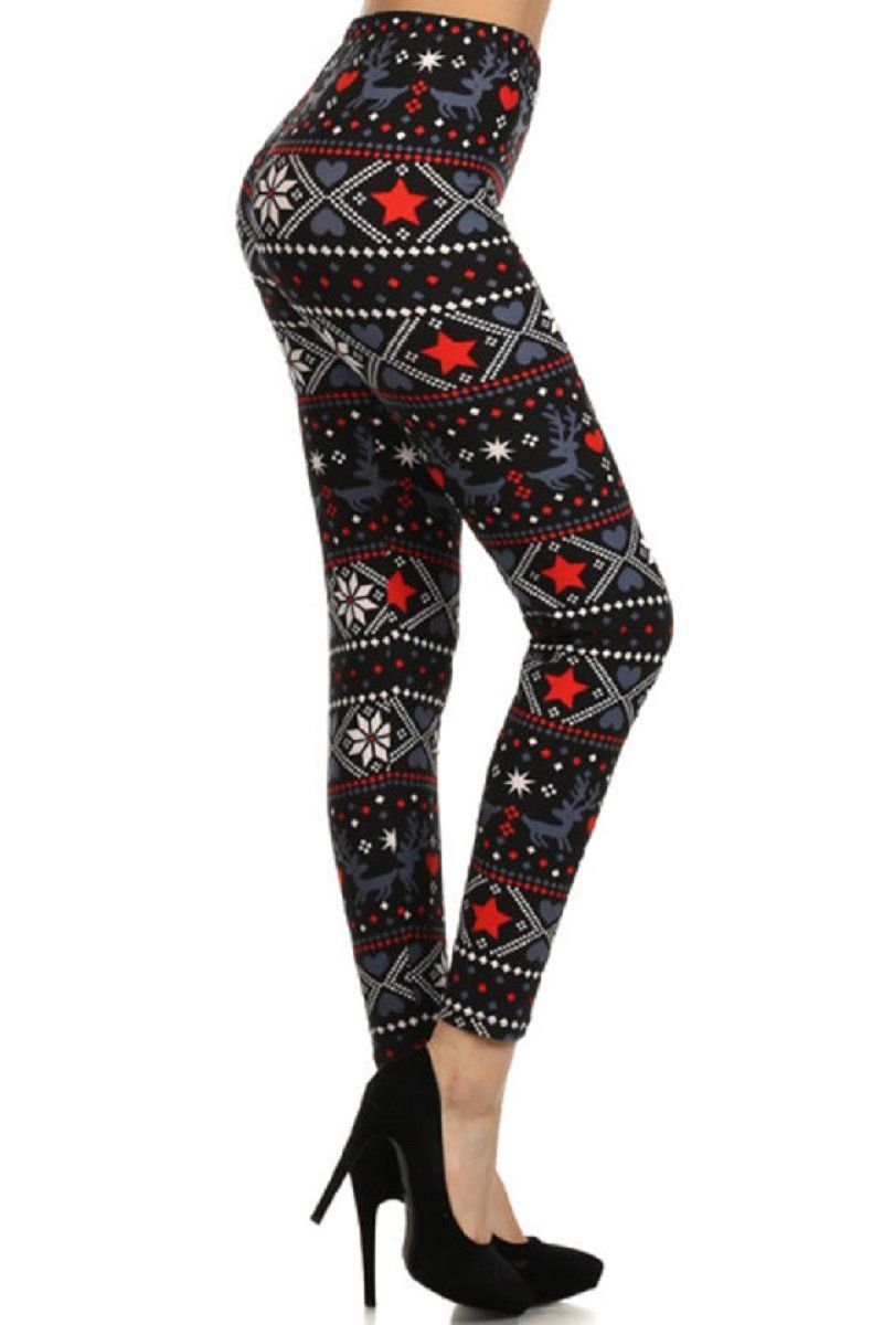 9684c2db13654 Super soft red black and white holiday leggings. Perfect for Christmas and  winter wear.