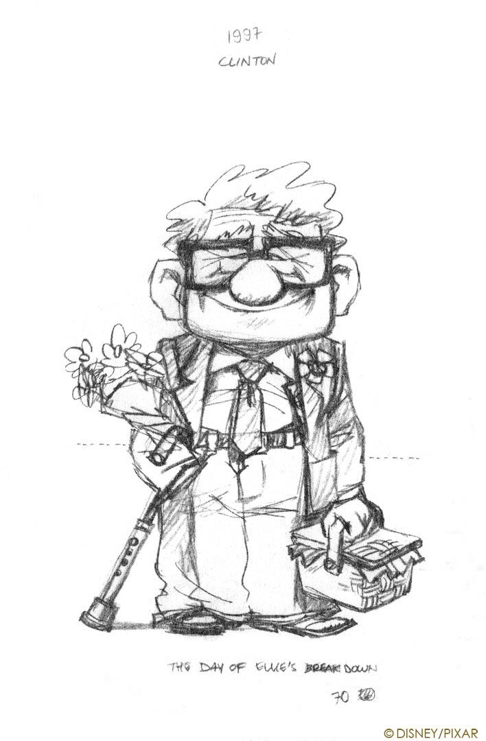 Living Lines Library: Up (2009) - Character Design   Pixar ...