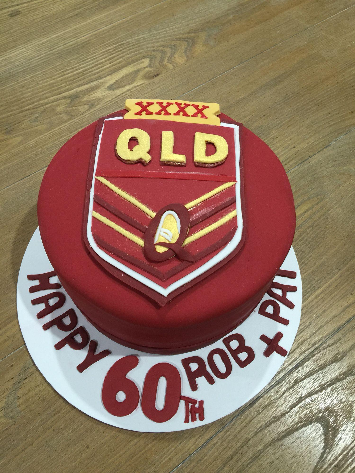 QLD Maroons!!!   Baking, Cake decorating, Desserts