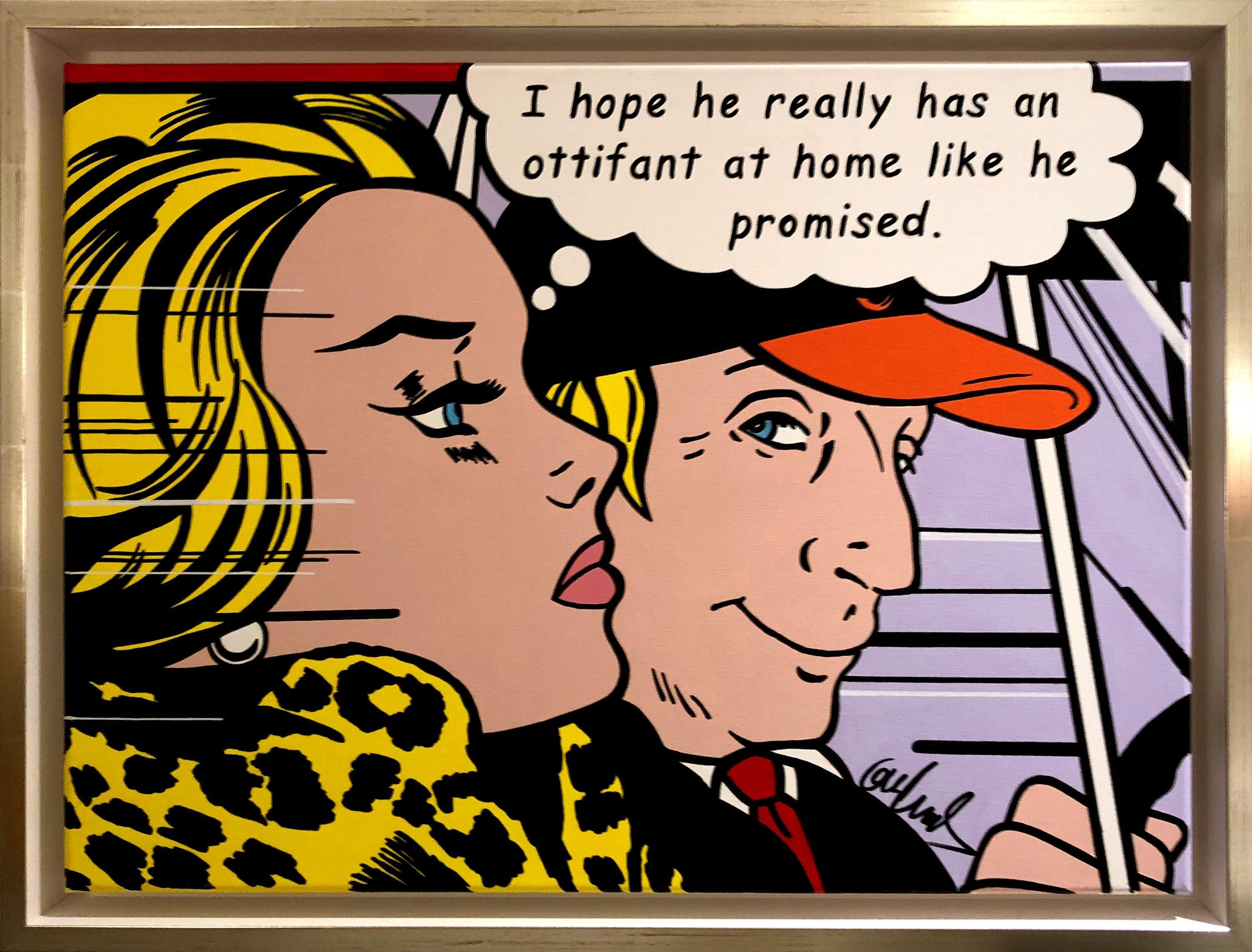 Her Desire Roi Lichtenstein Hommage Gemälde Von Otto Waalkes Gemälde Pop Art Künstler Kunst