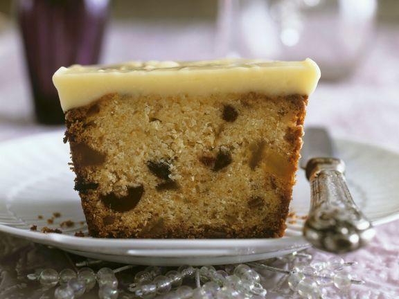 Früchtekuchen mit Ingwer-Orangen-Creme ist ein Rezept mit frischen Zutaten aus der Kategorie Kastenkuchen. Probieren Sie dieses und weitere Rezepte von EAT SMARTER!