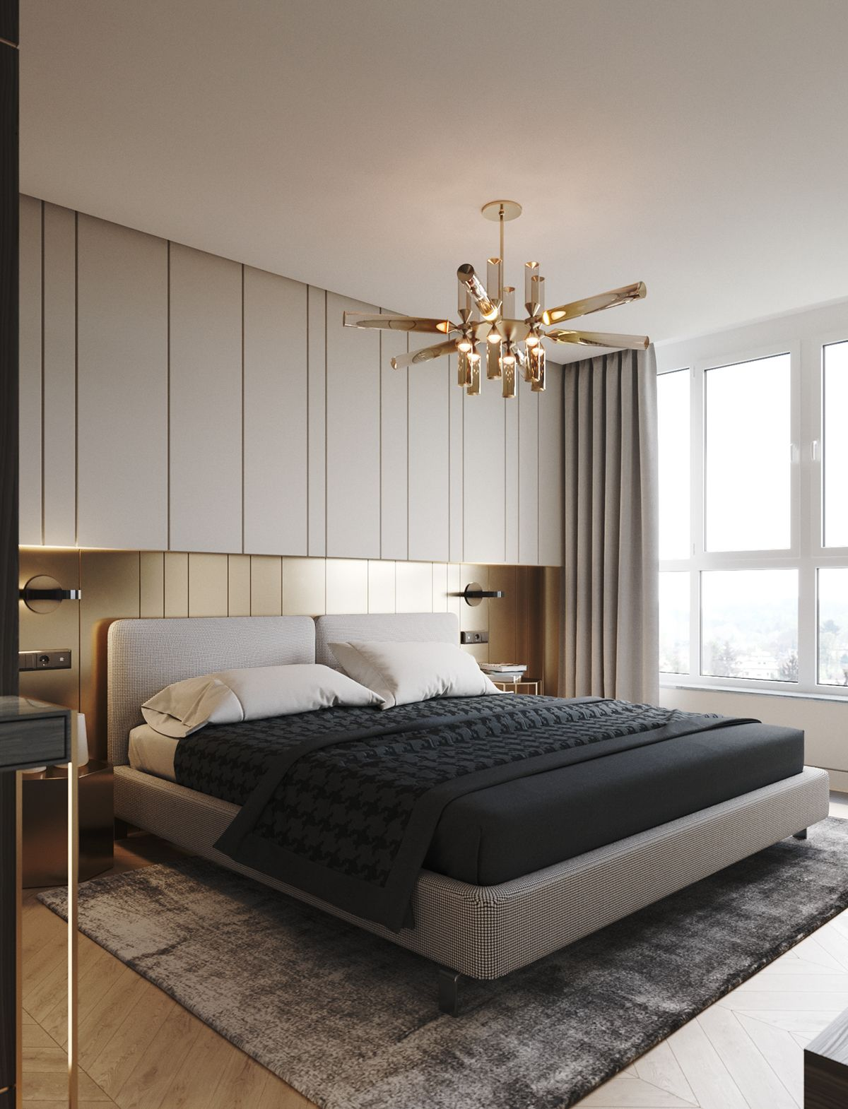 Contemporary Hotel Rooms: Apartment In Onyx Colours On Behance