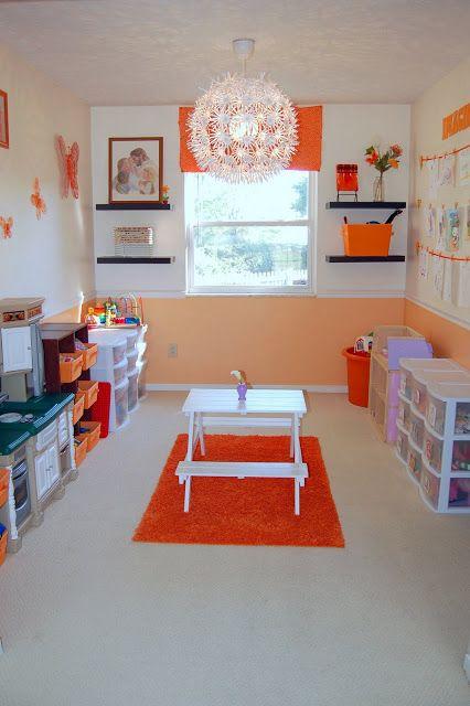 Orange And White Playroom Design Dazzle Orange Playroom Kid Room Decor Kids Room
