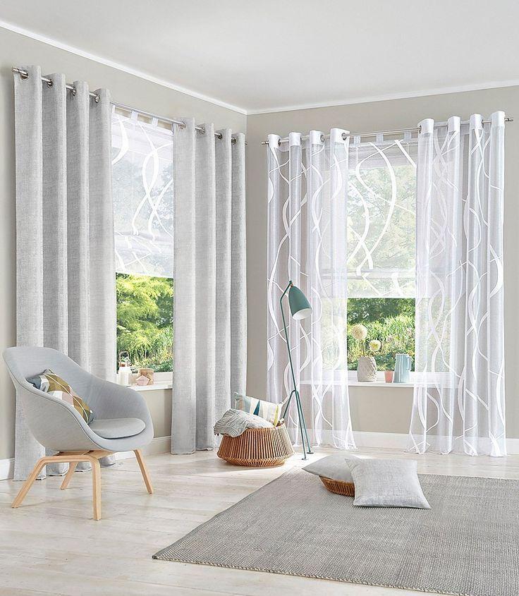 Bildergebnis für gardinen stores bodenlang Wohnzimmer Pinterest - vorhänge für wohnzimmer