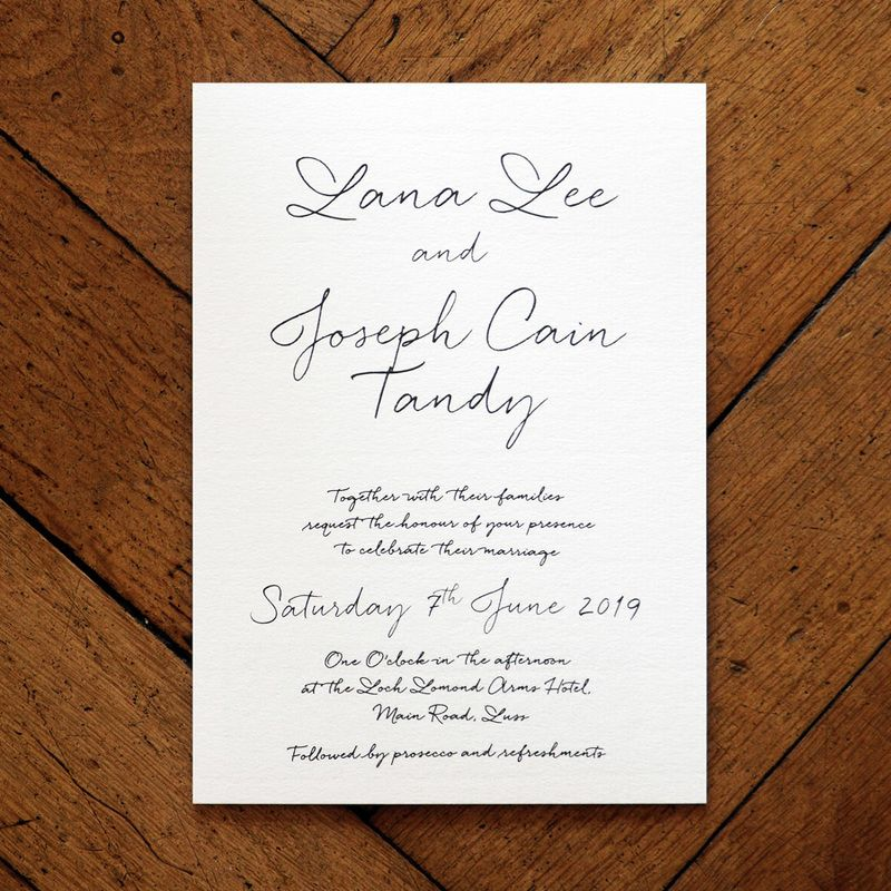 This hand-written style invitation takes you back to where it all - marriage invitation letter format