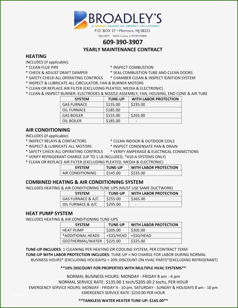 Beautiful Hvac Maintenance Contract Template that Will Wow