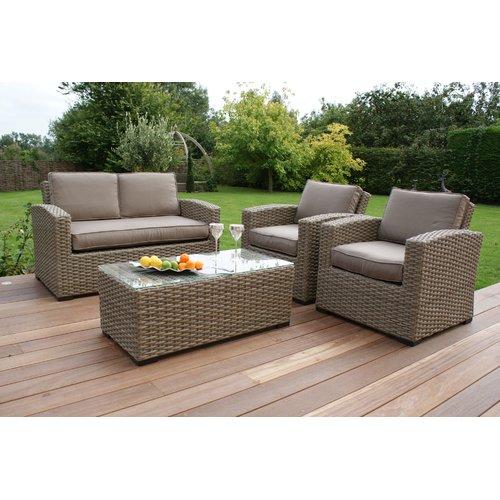 Wilber 4 Seater Rattan Effect Sofa Set Lynton Garden Colour