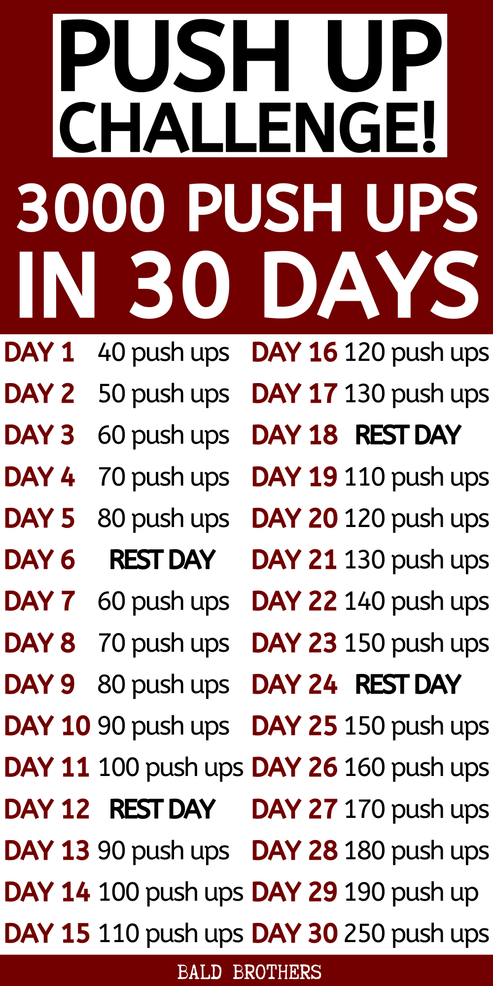 30 Day Push Up Challenge: 3000 Push Ups In One Month