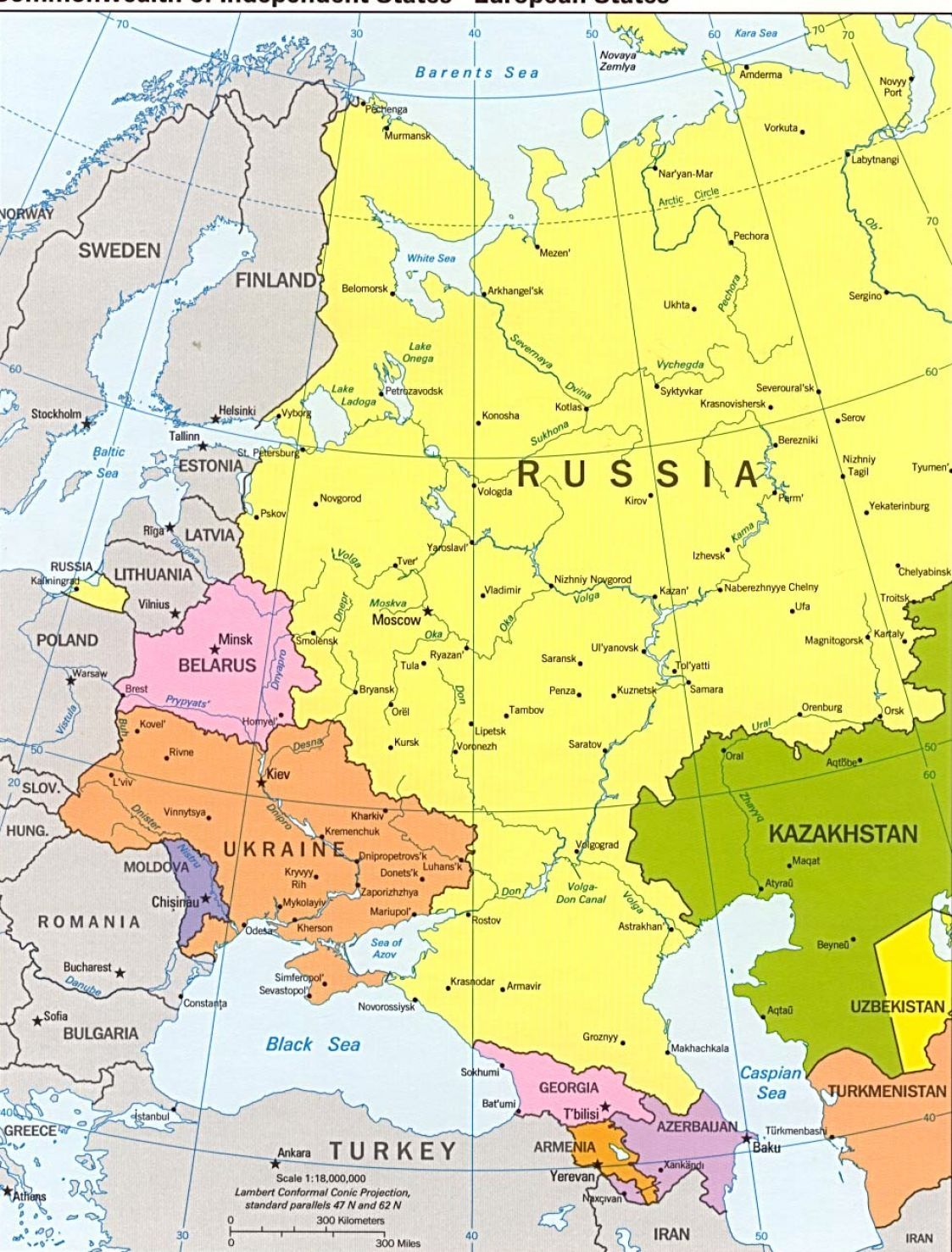 russia map | Political map of europe and russia pictures 1 | Recipes ...