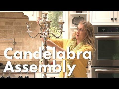 Curious how to assemble your candelabra?  Sarah demonstrates the step by step process with our 31 inch tall Candelabra.