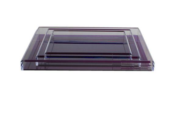 AVF Soulmate Tray (Small) - Amethyst. Acrylic trays by Alexandra Von Furstenberg