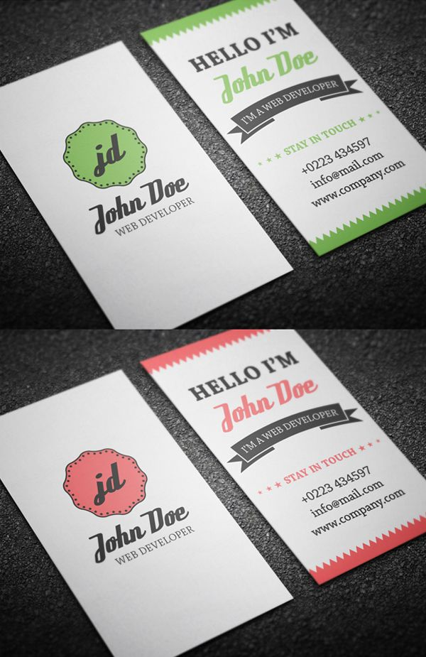 25 Free Business Cards #PSD Templates – Print Ready Design ...