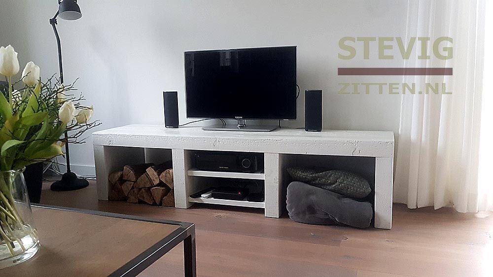 Maatwerk Tv Kast Van Steigerhout Alles Onder Verstek