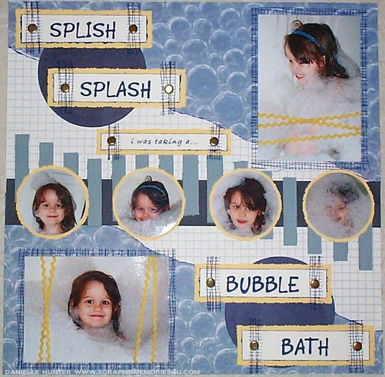 Baby Bath Scrapbook Layout 9 Scrapbook Baby Pinterest