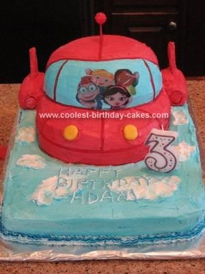 Homemade Little Einsteins Rocket Ship Cake I Took A Lot Of The Great Ideas From This Website And Combined Them