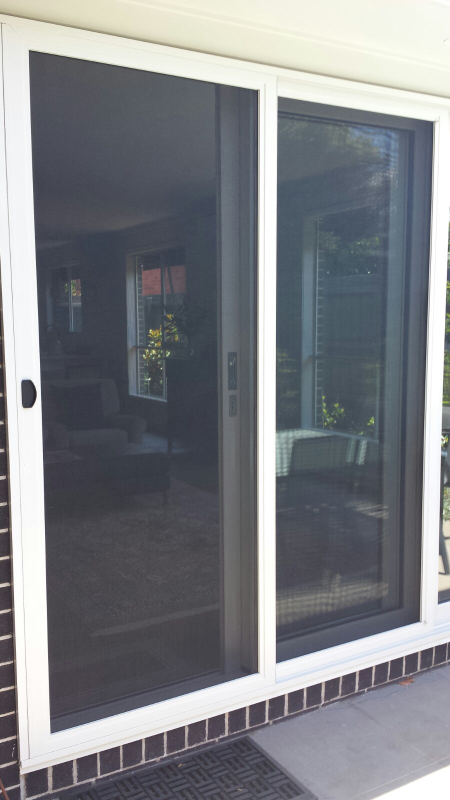 Aluminium Frame Fly Screen Sliding Door With Aluminium Tuff Mesh Installed  In Mordialloc.