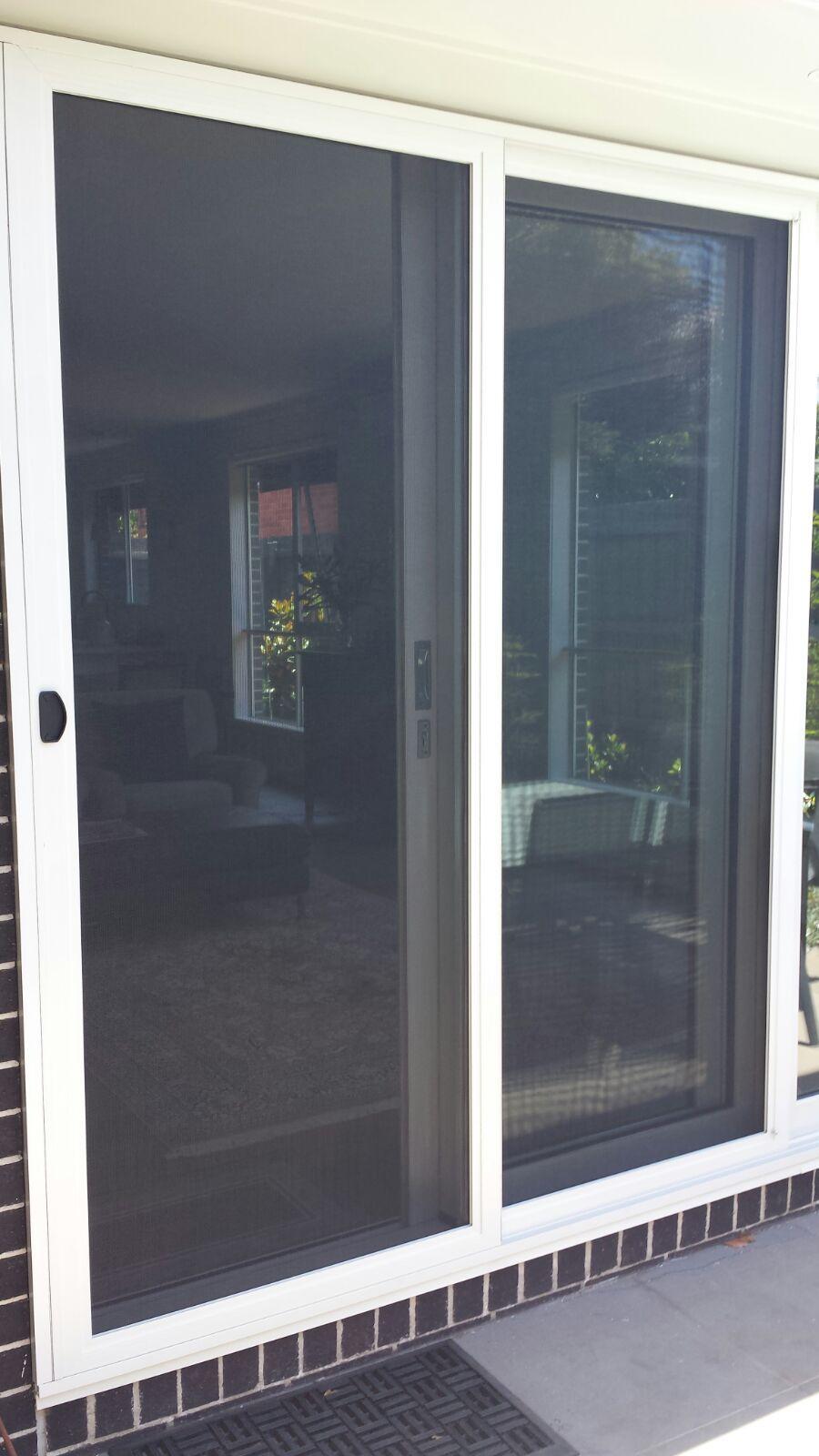 Aluminium Frame Fly Screen Sliding Door With Aluminium Tuff Mesh