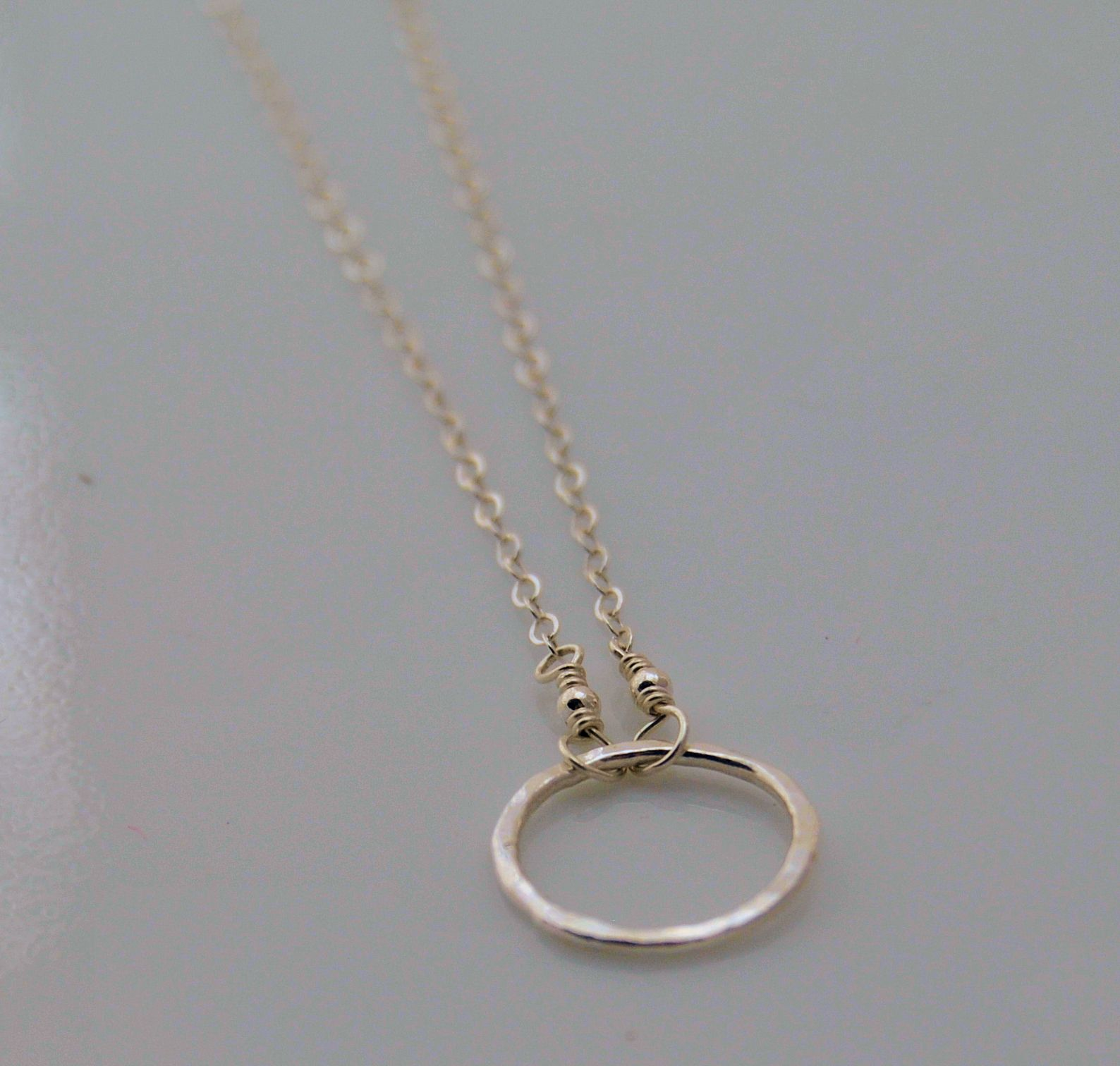 small ring necklace silverjpg 15881512 - Wedding Ring Necklace