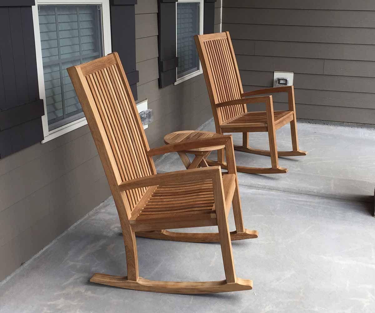 Buy Hiback Royal Teak Rocking Chairs Wholesale Pricing Atlanta Teak Furniture In 2020 Teak Rocking Chair Rocking Chair Teak Furniture