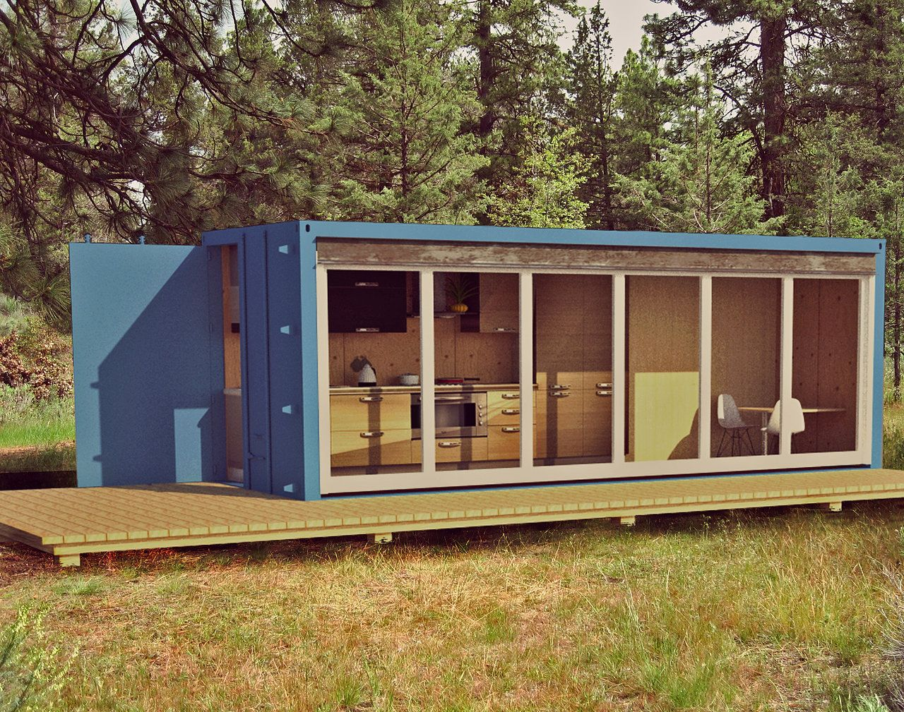 Shipping container cabin 1 alternative green homes pinterest shipping container cabin - Mobile home container ...