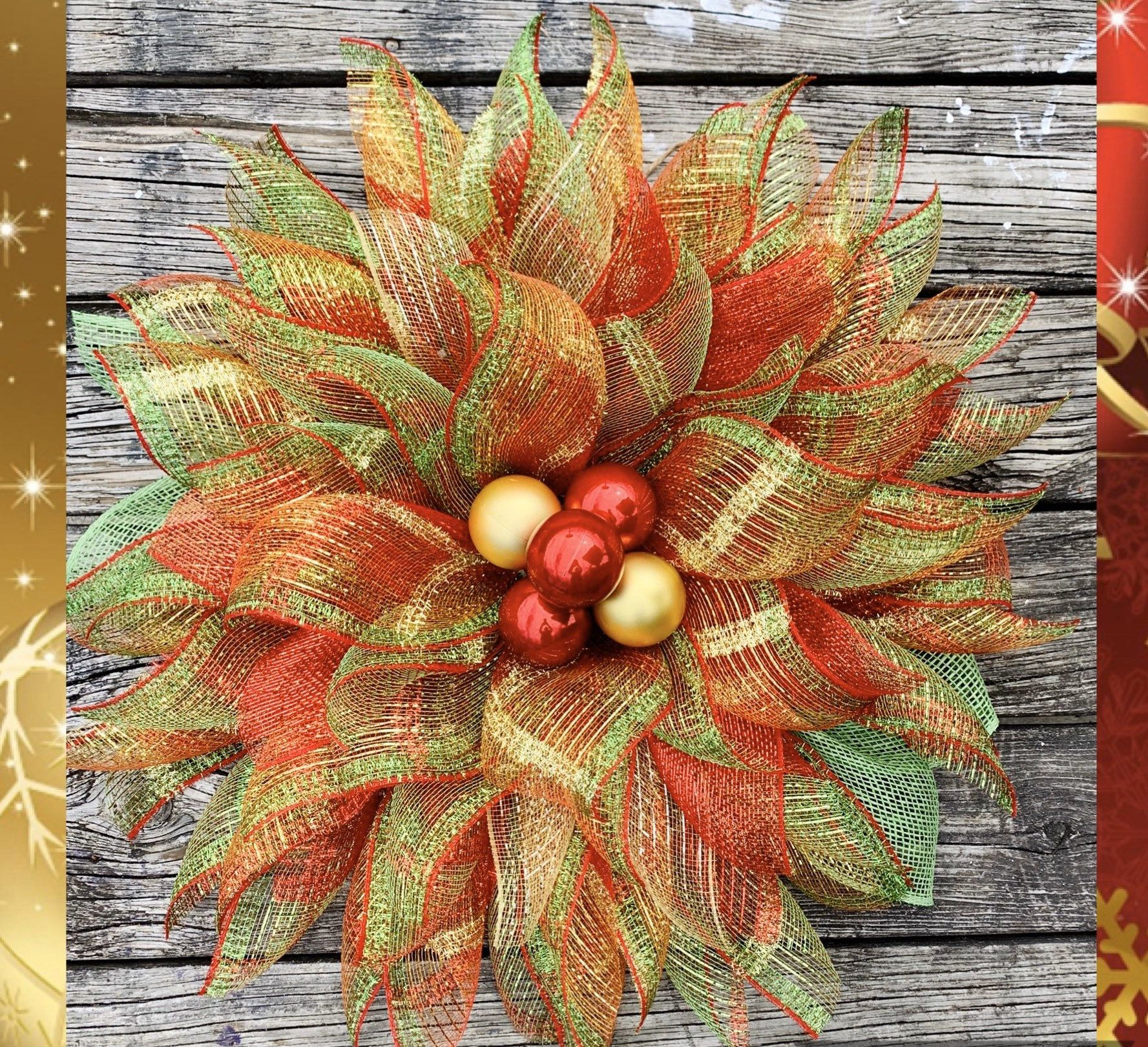 Photo of Christmas wreath with matching angel, traditional Christmas wreath colors, angel wreath, elegant wreath