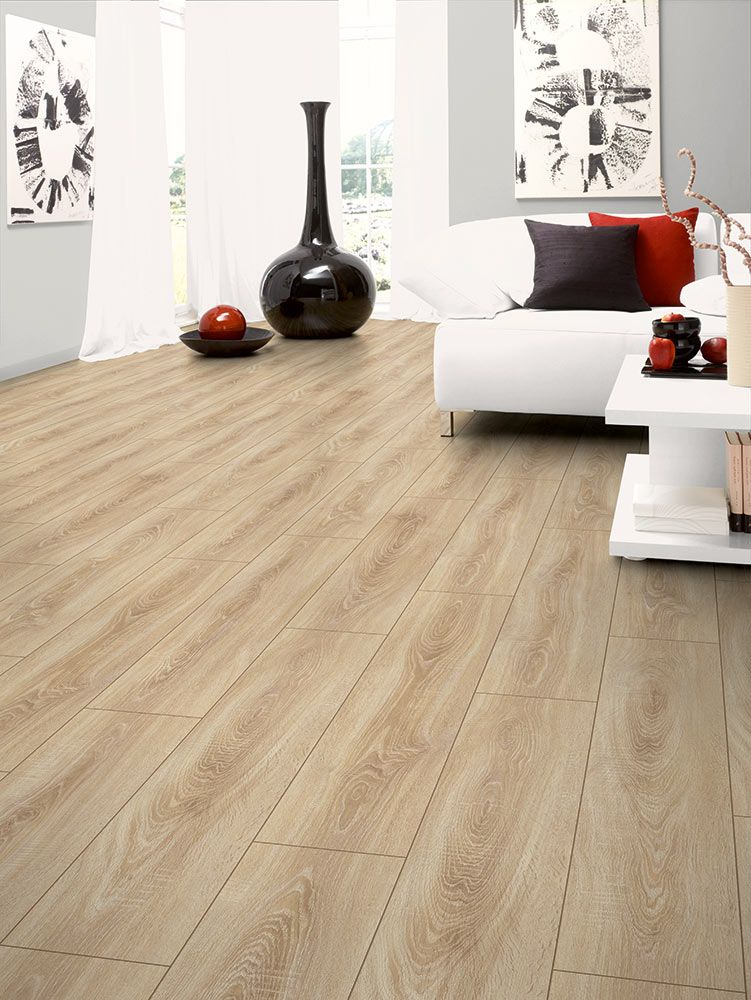 Exquisite laminate flooring with an embossed-grain, authentic wood look.  Durable, click