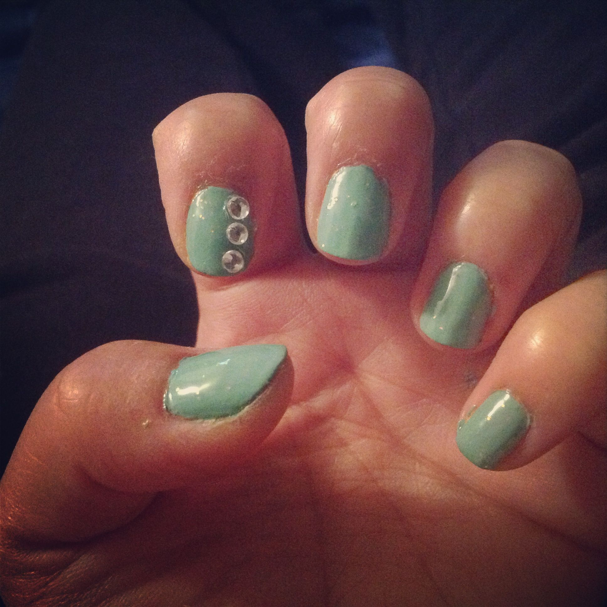 Variety Of Nail Art By Yours Truly: Tiffany Inspired Nail Art For Short Nails