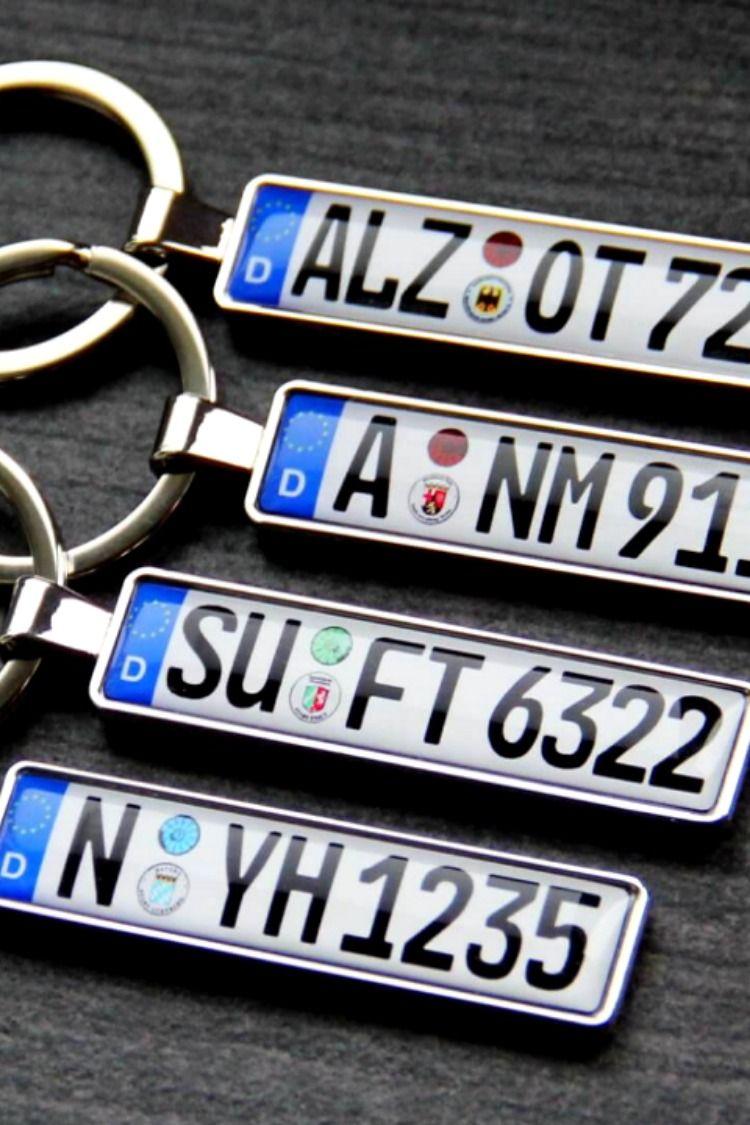 Premium Wunsch Schlusselanhanger Kennzeichen Mit Automarke