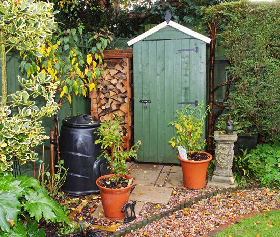 Garden, Garden Images, Shed With