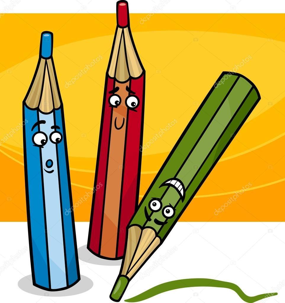 Výsledek obrázku pro kreslený obrázek pastelky | Kreslený obrázek,  Kreslení, Obrázky