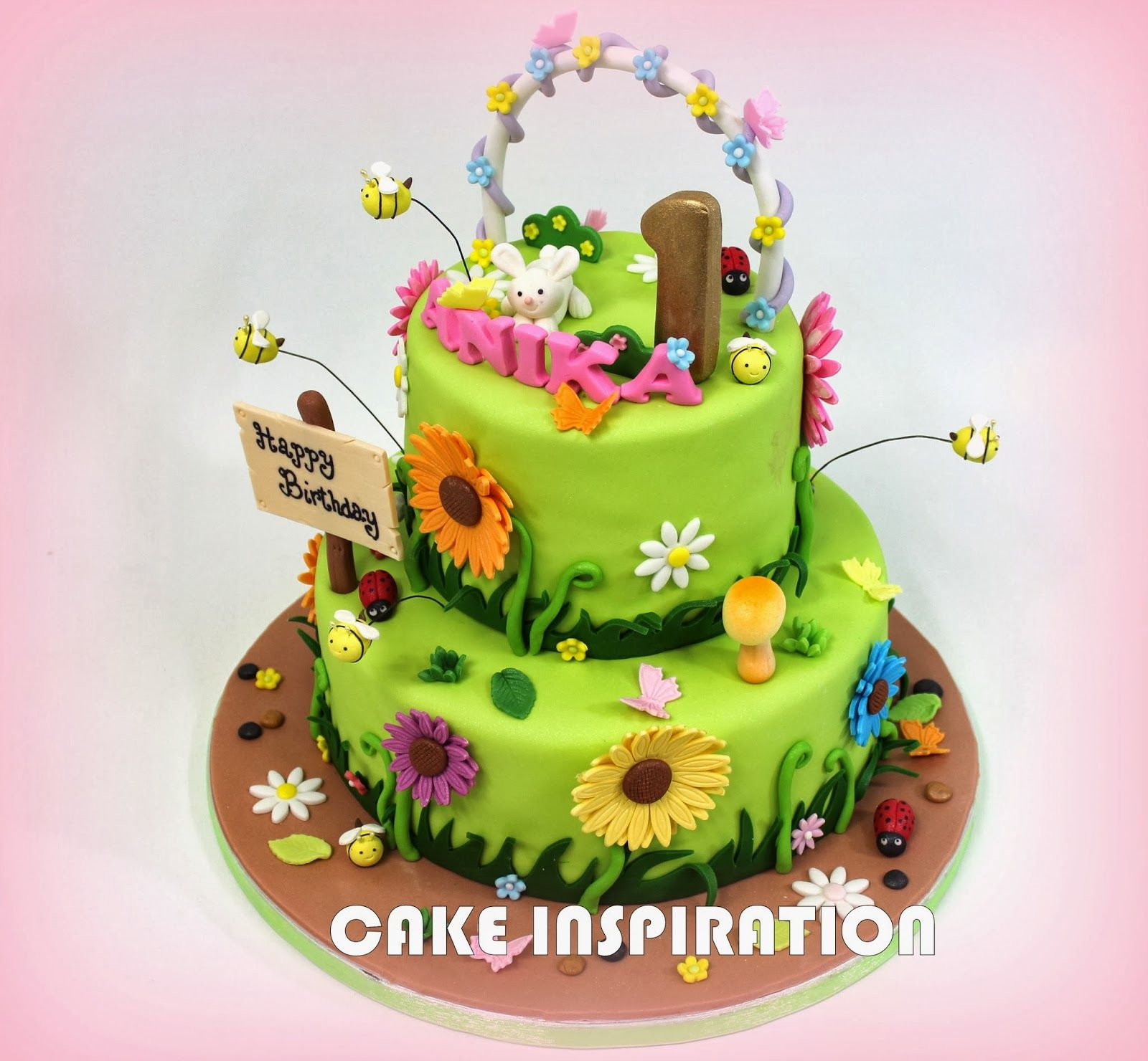 garden themed cake ideas theme daisy theme flower theme cake garden cakes - Garden Design Birthday Cake