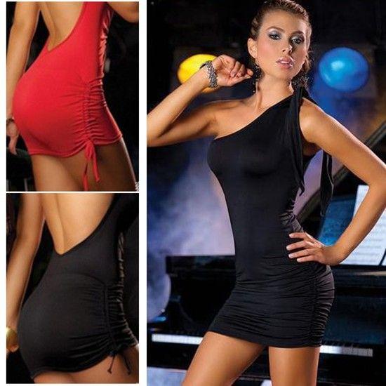 Women One/Off Shoulder Sleeveless Slim Club Dance Party Bandage Girl Summer Backless Mini Dresses $6.00 (free shipping)