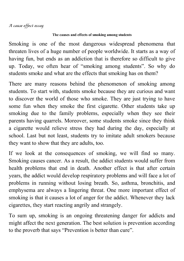 Pin On Enseignement Effect Of Smoking Essay