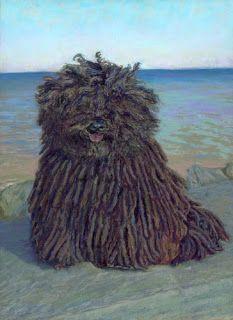 Daily Pastel Painting Puli Dog Portrait Puli Dog Puli Dog Breed Dog Portraits