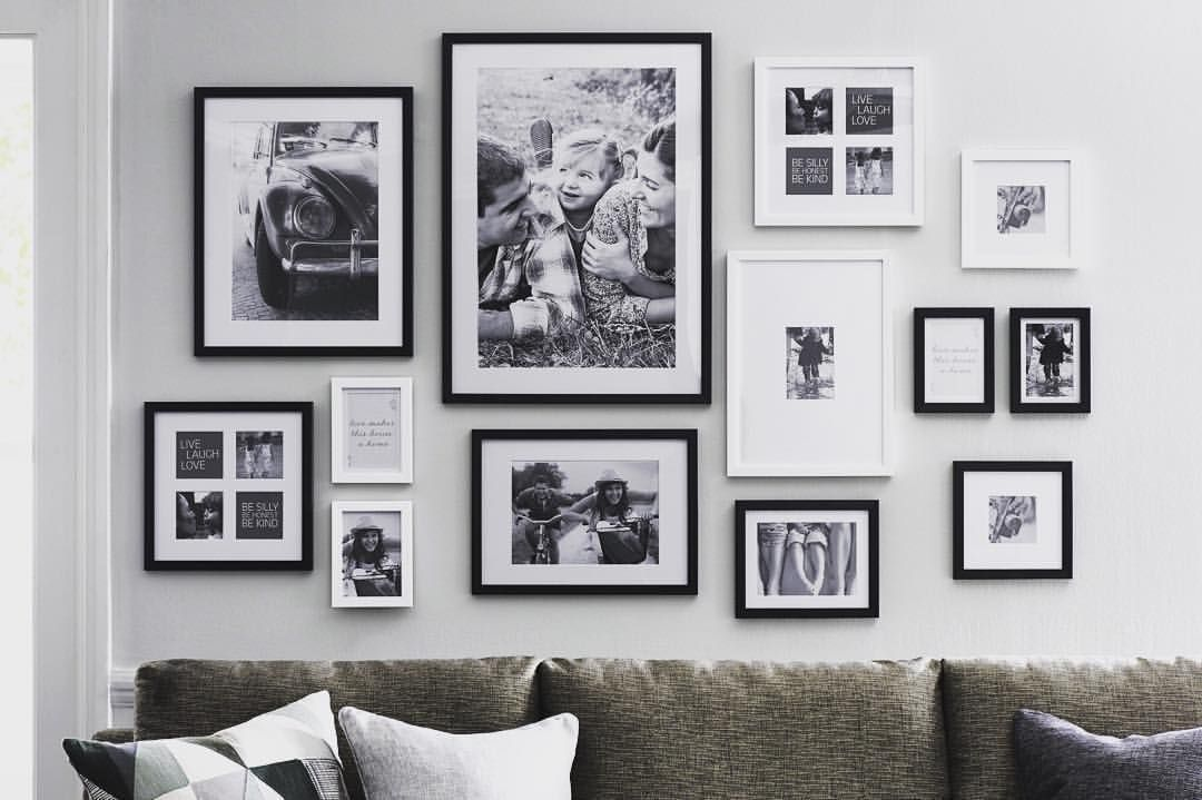 Large Wall Decor Ideas For Living Room Picture Frame Layout Generator Gallery App Frames Best Hanging Phot Wall Hanging Arrangements Frames On Wall Wall Design