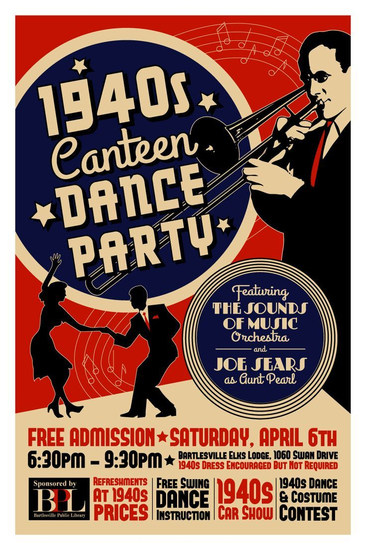 Poster design 1940 - 1940s Swing Band Set Ups Google Search