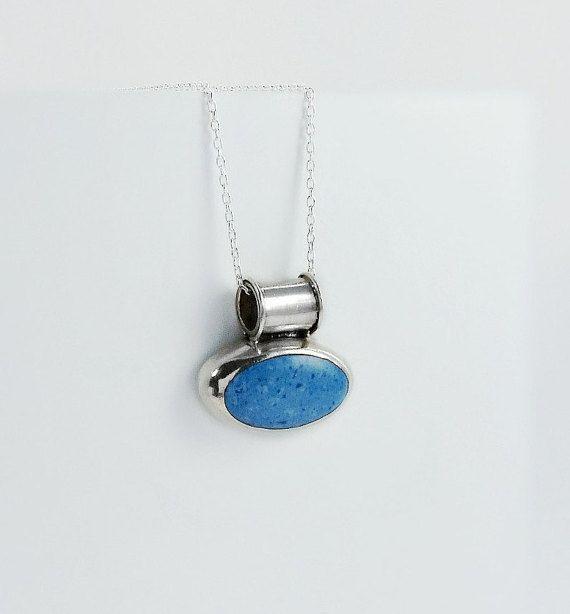 Blue stone pendant necklace speckled blue gemstone pendant 20 blue stone pendant necklace speckled blue gemstone pendant 20 sterling necklace mexican silver pendant necklace mozeypictures Choice Image