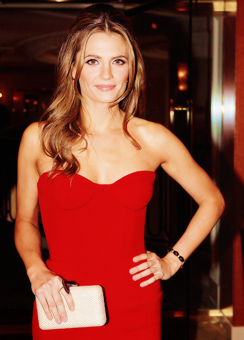 Stana Katic at the Oscars nominee luncheon representing Canada