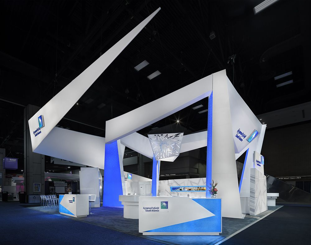 Modern Exhibition Stand List : Saudi aramco exhibit at the spe show sign by derse