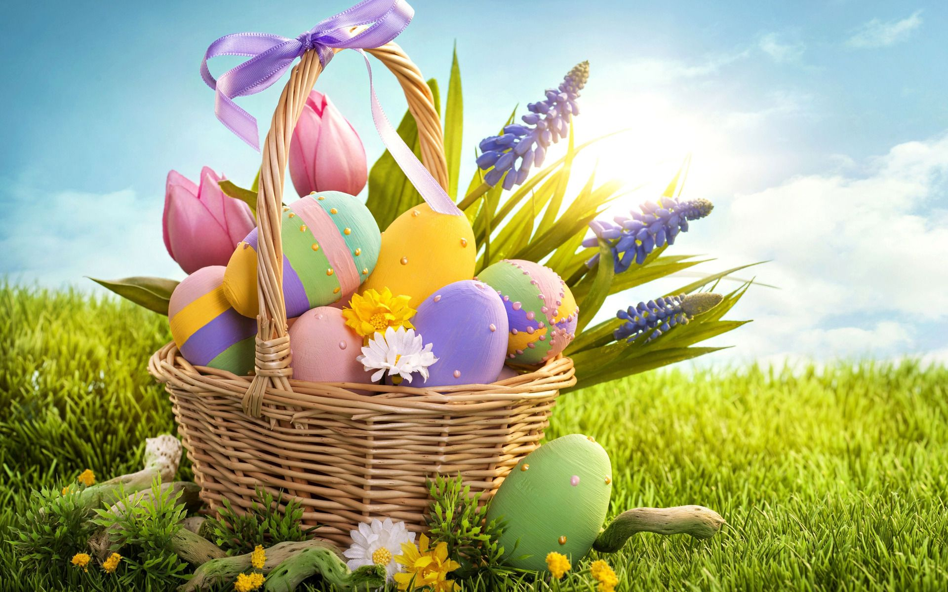 Colorful Easter eggs Wallpaper Easter Eggs Wallpapers