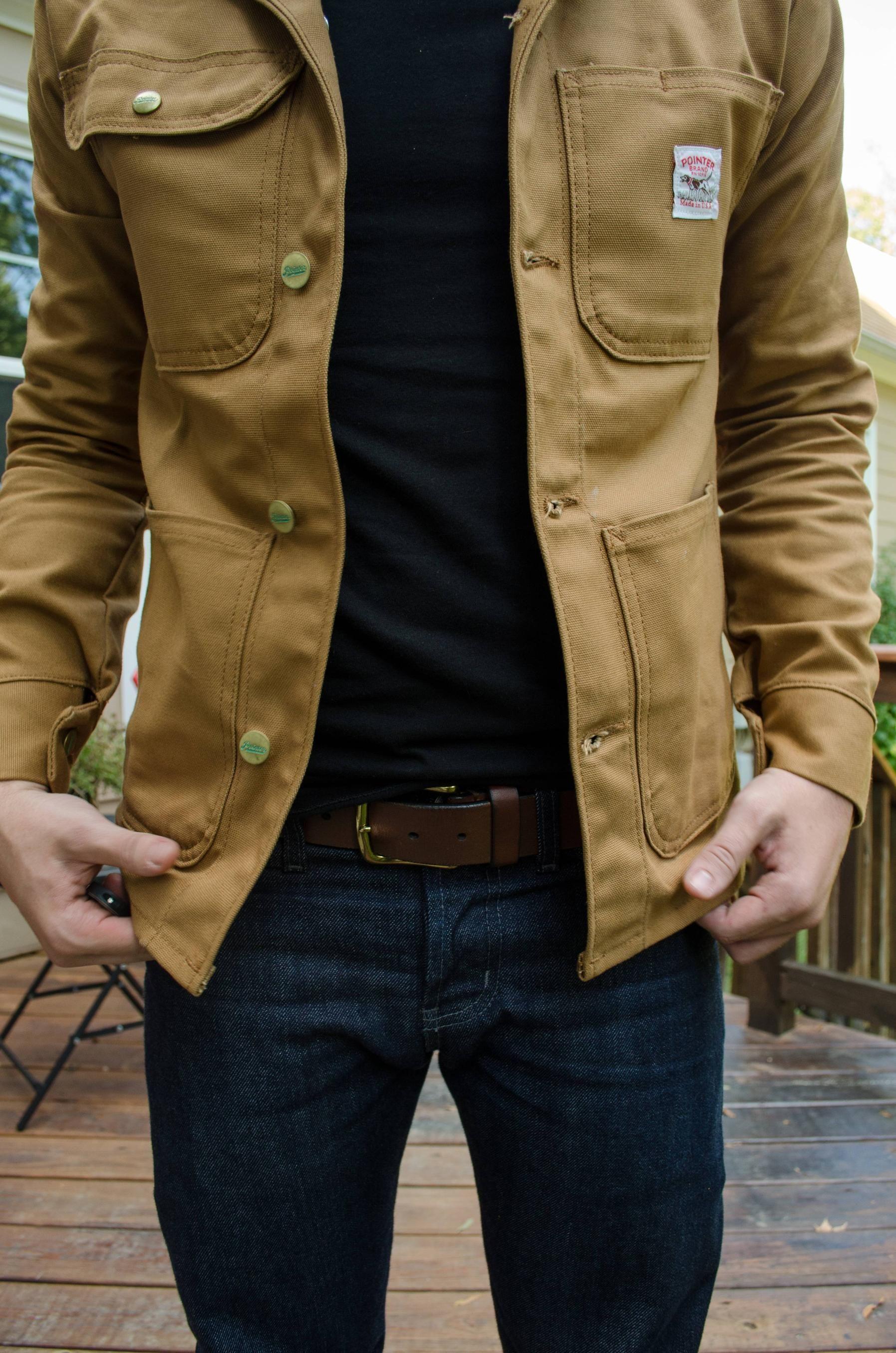 slim fit utilitarian jacket