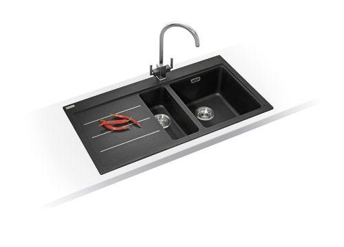 Franke Kitchen Sinks Mythos Fusion MTF 651 Fragranite Onyx £475 ...