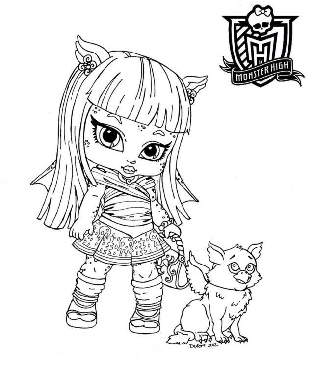 Monster High Coloring Pages Baby Skelita For Kids 277072