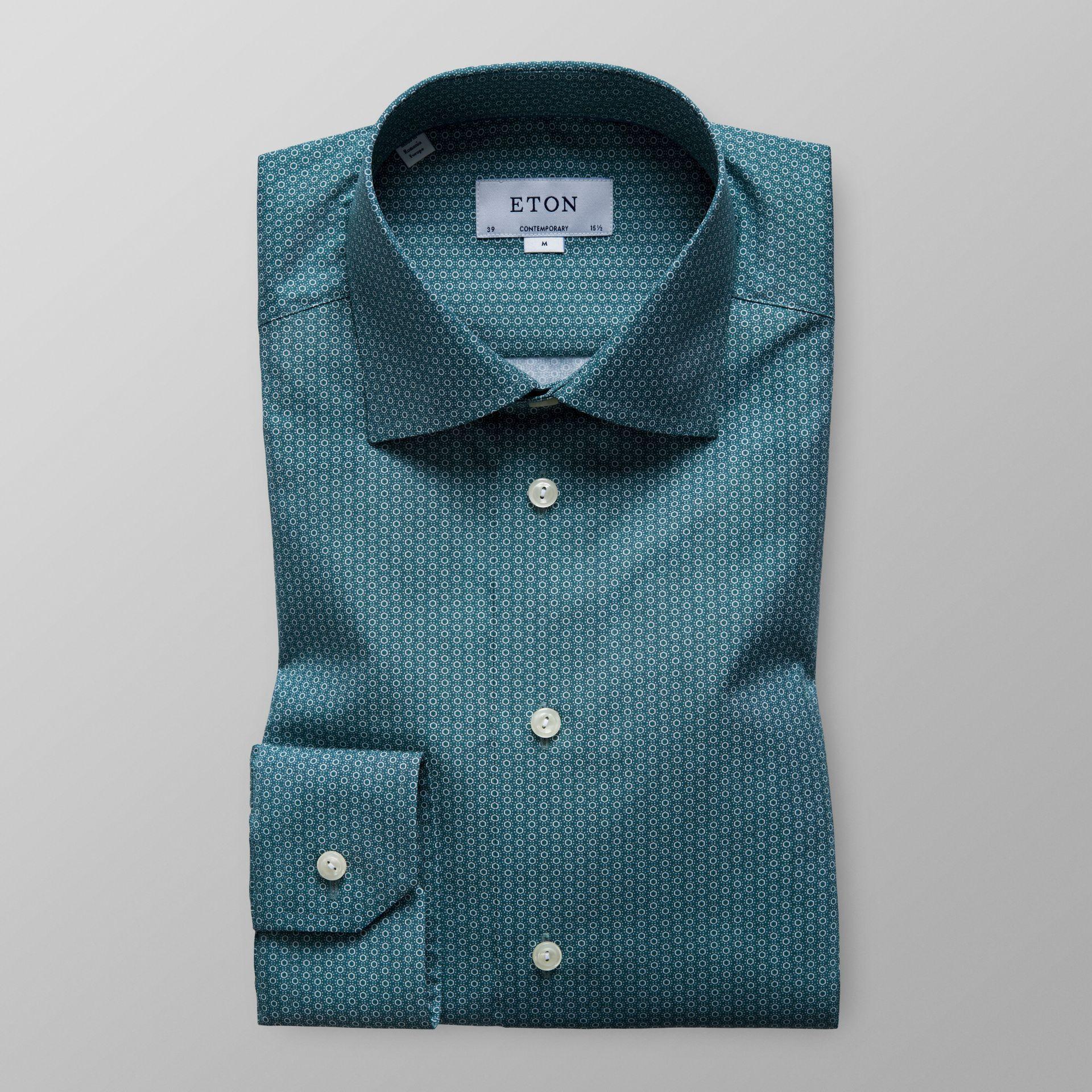 Green dress shirt mens Shirts in Contemporary Fit  Eton Shirts US  Модели рубашки  Pinterest