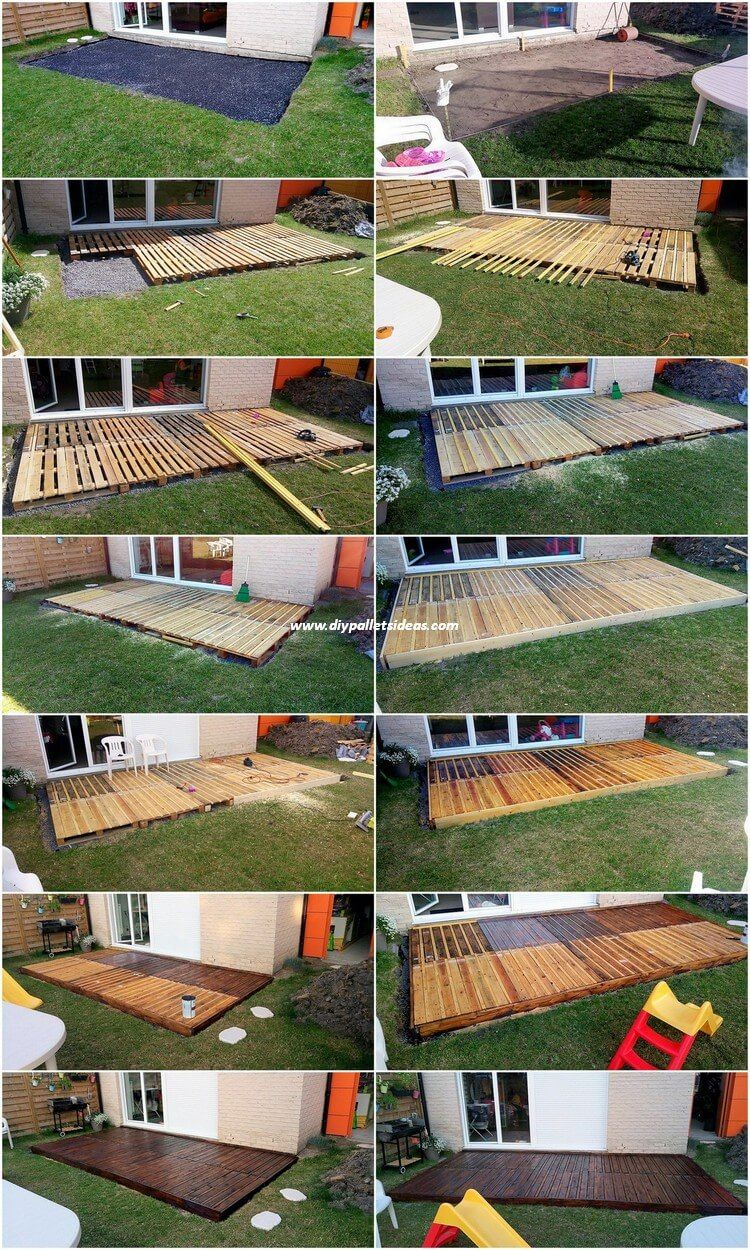 DIY Pallet Garden Terrace: Step by Step Plan | Jardins ...