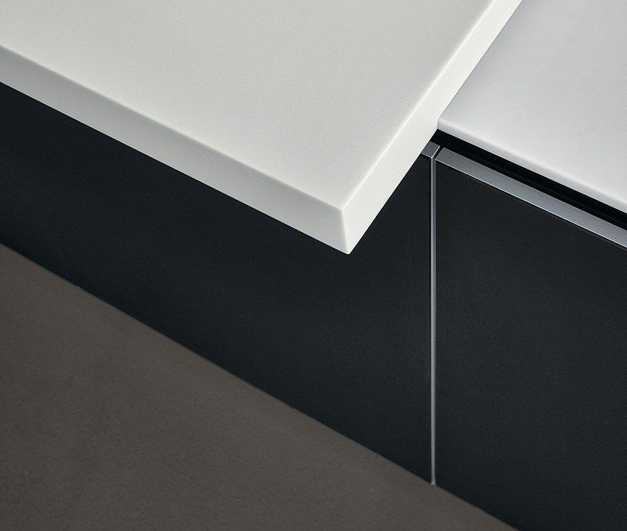 twelve küche mit kochinsel granit arbeitsplatte matt Küchen - arbeitsplatte küche grau