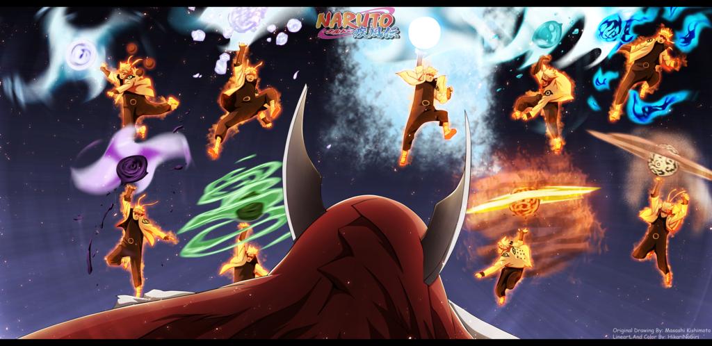 Narut0 688 Senpou Chou Bijuu Rasen Shuriken Naruto Naruto Vs Naruto Uzumaki