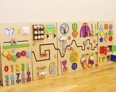 Photo of Solución sensorial para sala de espera pediátrica o práctica dental pared táctil niño pequeño tablero ocupado juguete de pared educativo para sala de juegos para niños