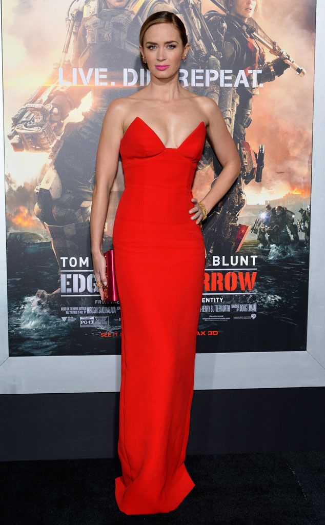 Is This Sexy Red Dress Emily Blunt's Hottest Look of All ...